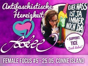 """Dieser Hass ist ja immer noch da!?"""" Sookee bei Female focus #5 - 25.05.Conne Island + Support Tice - Seid dabei!"""