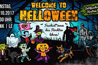 Welcome to Helloween - Faschist*innen das Fürchten lehren! Antifaschistische Kostümdemo am 31.10.17