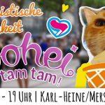 Herzigkeit beim Bohei und Tamtam in Leipzig am 23.6.2018