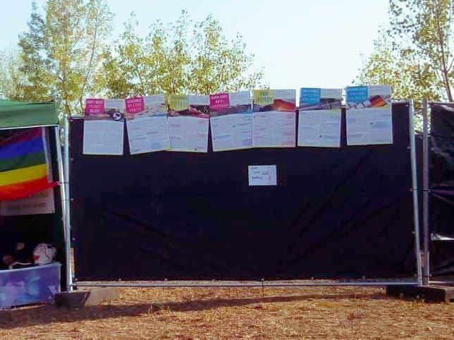 Wir waren mit den Plakaten auf dem Highfield-Festival