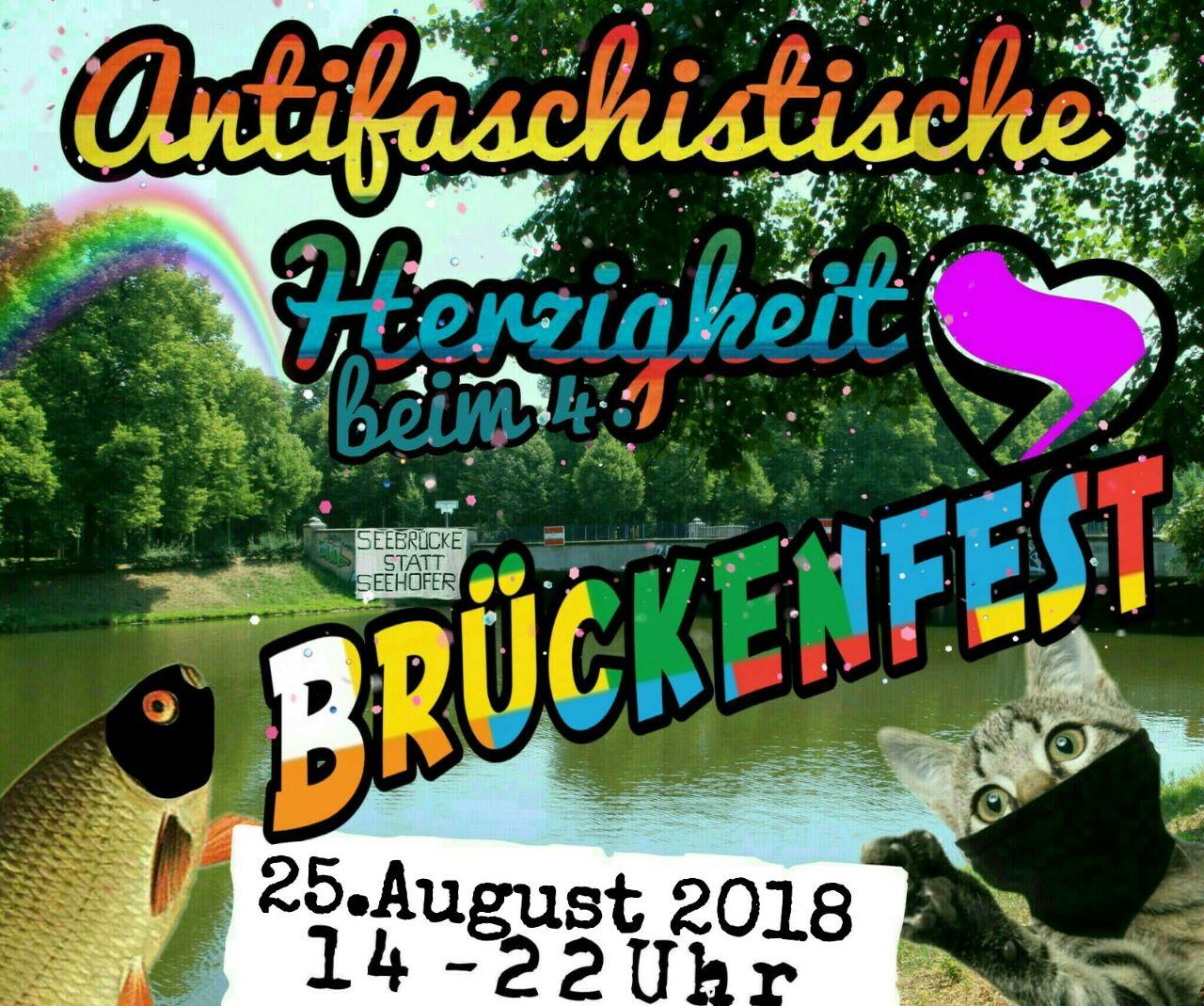 Antifaschistische Herzigkeit beim Brückenfest 25.August 2018 14-22 uhr