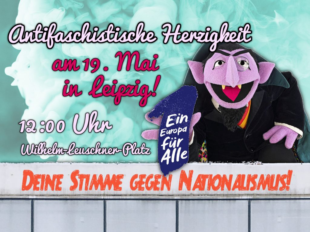 Antifaschistische Herzigkeit am 19. Mai 2019 bei Ein Europa für alle in Leipzig