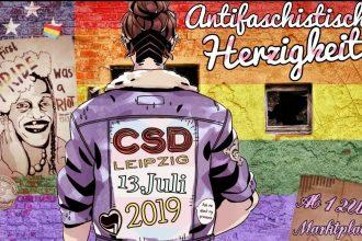 Antifaschistische Herzigkeit beim CSD 2019 in Leipzig, 13.7.2019 ab 12 Uhr