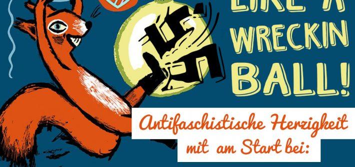 Antifaschistische Herzigkeit beim Weihnachtsmarkt im Werk 2 2019